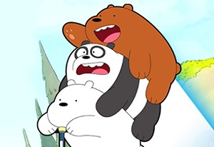 We Bare Bears Scooter Streamers