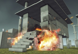 Physics Destroyer Crash Simulation